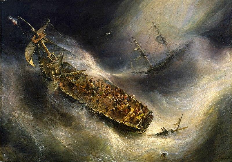 Théodore GUDIN, Trait de dévouement du capitaine Desse, de Bordeaux, envers Le Colombus, navire hollandais, 1829